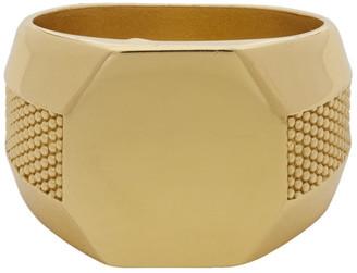 Emanuele Bicocchi Gold Plain Signet Ring
