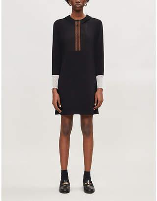 Sandro Jolyne cotton-blend mini dress