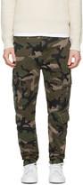 Valentino Green Camo Cargo Trousers