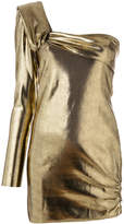 Baja East one-shoulder metallic blouse