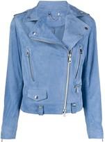 Desa 1972 slim-fit zip-up biker jacket