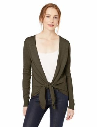Daily Ritual Amazon Brand Women's Lightweight Tie-Front Cardigan