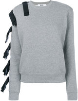 MSGM straps embellished sweatshirt - women - Cotton/Viscose - S