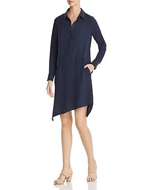 Go by Go Silk Asymmetric Hem Shirt Dress