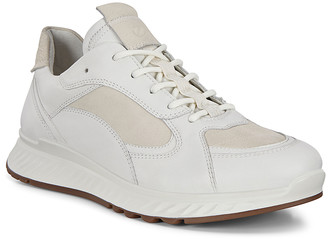 Ecco Women's Sneakers White - Ice White Racer ST1 Leather Running Shoe - Women
