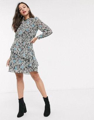JDY mini dress with frill detail in floral print