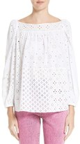 Marc Jacobs Broderie Anglaise Blouse