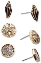 lonna & lilly Gold-Tone 3-Pc. Set Seashore-Inspired Stud Earrings