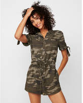 Express camo tie sleeve utility romper