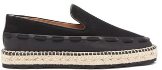 Bottega Veneta Canvas And Leather Espadrilles - Black