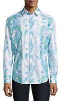 Robert Graham Abstract Print Cotton Shirt