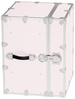 Pottery Barn Teen Canvas Dorm Trunk with Silver Trim, Bedside, Blush