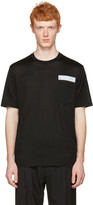 Lanvin Black Reflective Band T-Shirt