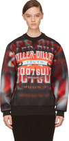 Juun.J Red 'Killer Diller' Neoprene Pullover