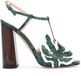 Rochas leaf T-bar sandals
