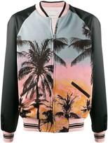 Laneus palm-print bomber jacket
