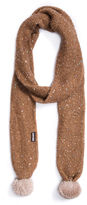 Muk Luks Sequins Oblong Knit Cold Weather Scarf