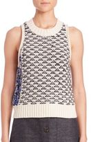 3.1 Phillip Lim Outlinking Cropped Tank Top