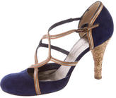 CNC Costume National Suede d'Orsay Pumps