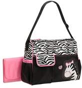 Baby Boom Zebra Diaper Bag with Pink Changing Pad