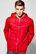 Boohoo Hooded Windbreaker Inspired Jacket