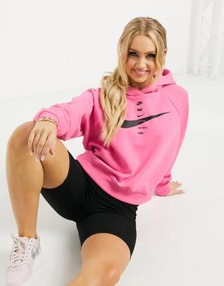Nike swoosh crop hoodie in pink