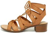City Classified Arielle Tan Lace-Up Sandals