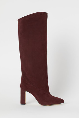 H&M Suede Boots - Red