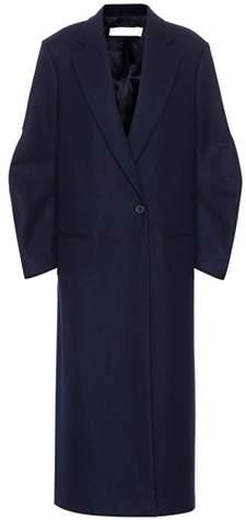 Victoria Beckham Twist Sleeve virgin wool coat