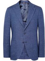 Loro Piana Blue Toledo Slim-Fit Linen Blazer