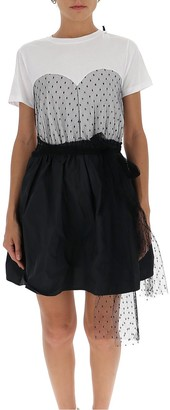 RED Valentino Tulle Layered T-Shirt Dress