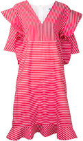 MSGM striped origami shift dress - women - Cotton - 42
