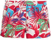 J.Crew Cotton faille short in paradise floral