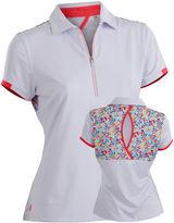 Asstd National Brand Flash Short Sleeve Plus Short Sleeve Knit Polo Shirt Plus