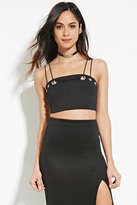 Forever 21 FOREVER 21+ Strappy Grommet Cropped Cami