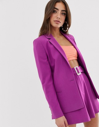 Asos DESIGN forever suit blazer in purple
