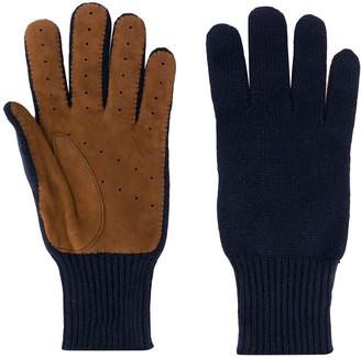 Brunello Cucinelli Colour-Block Cashmere Gloves