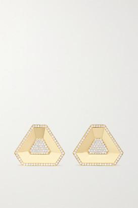 Ofira Shield 18-karat Gold Diamond Earrings - one size