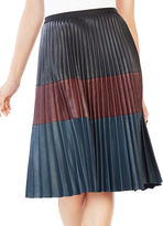 Bcbgmaxazria Elsa Pleated Faux-Leather Skirt