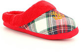 Lauren Ralph Lauren Plaid Twill Logo Slippers
