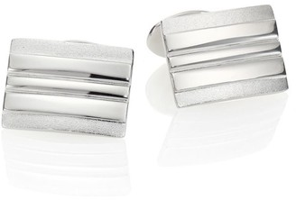 David Donahue Sterling Silver Rectangle Cuff Links