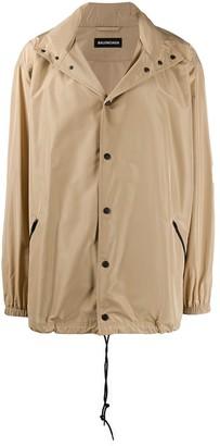 Balenciaga Logo Raincoat Jacket