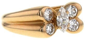 Van Cleef & Arpels 1980s Pre-Owned Yellow Gold Butterfly Diamond Ring