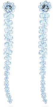 Simone Rocha Floral Beaded Drop Earrings - Womens - Blue