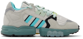 adidas White and Grey ZX Torsion Sneakers