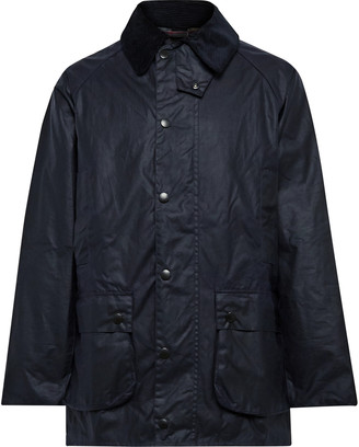 Barbour White Label Beaufort Corduroy-Trimmed Waxed-Cotton Jacket