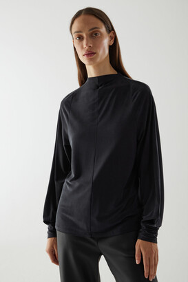 Cos Cupro Long-Sleeved Top