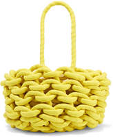 Alienina Woven Cotton Bucket Bag - Yellow