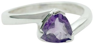 Novica Artisan Crafted Sterling 1.50 ct Amethyst Ring