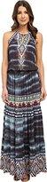 Hale Bob Women's Werable Art Rayon Woven Drop Waist Maxi Dress